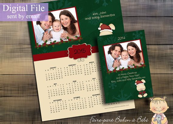 Personalized calendar and greeting card kit by fairepartbedonabebe