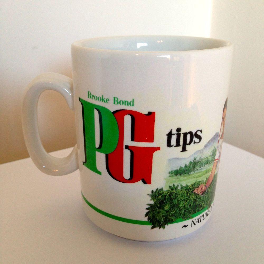 Vintage collectors Brooke Bond PG Tips tea bags mug tea
