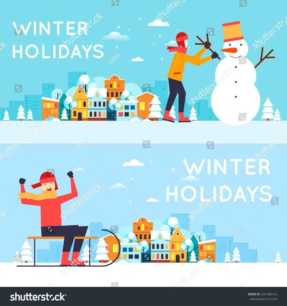 New Post Winter Vacation Clipart