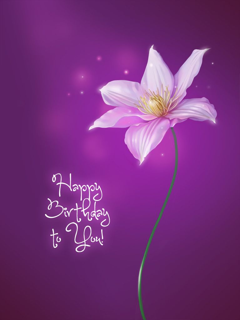Purple Flower Card Birthday Cards Lication