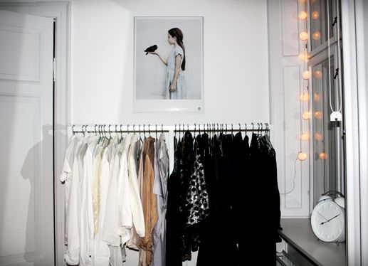 i want a clothing rack for my bedroom and fairy lights | bedroom ...