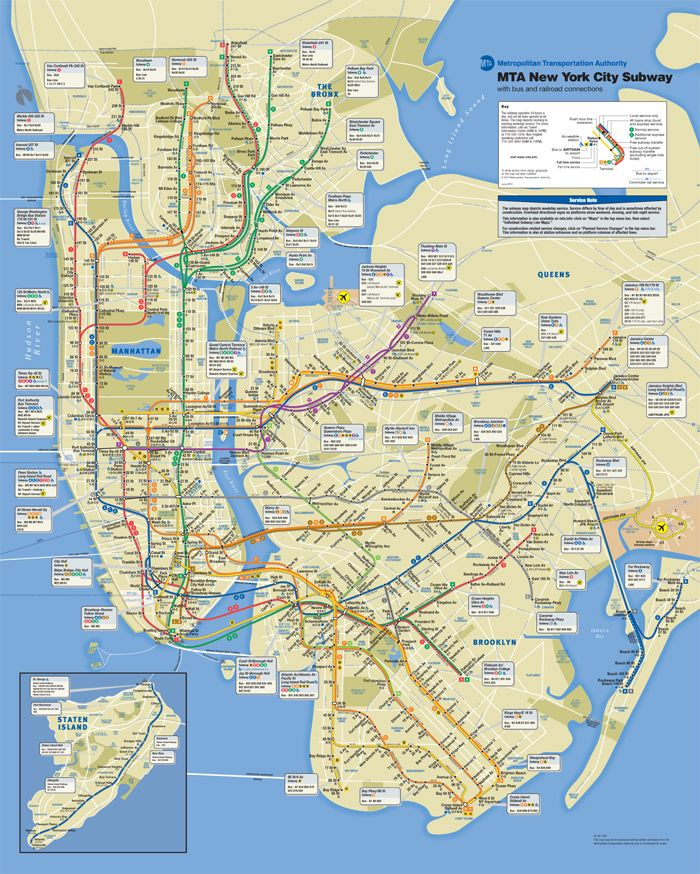 5 Boroughs New York New York Nyc Subway Map Bus Map New