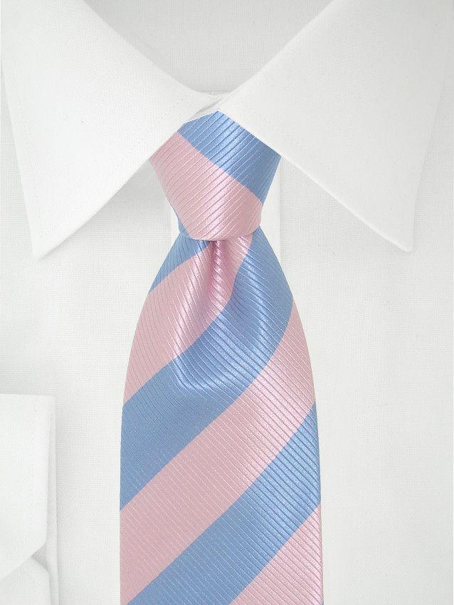 Blau rosa gestreifte krawatte