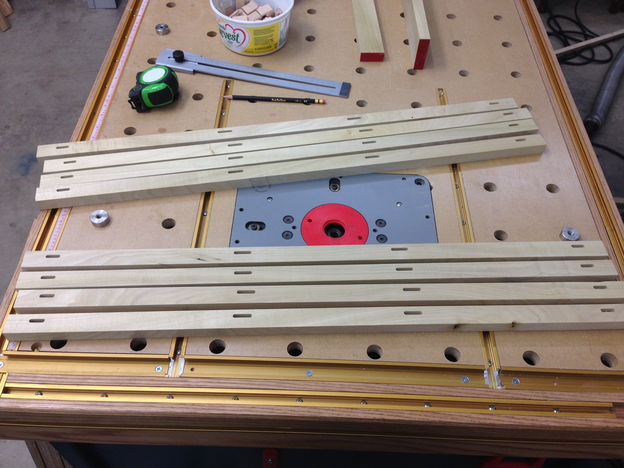 T Track In Home Made Mft Top Http Festoolownersgroup Com Festool Jigs Tool Enhancements T Track In Home Made Mft Top Topics Festool T Track Assembly Table