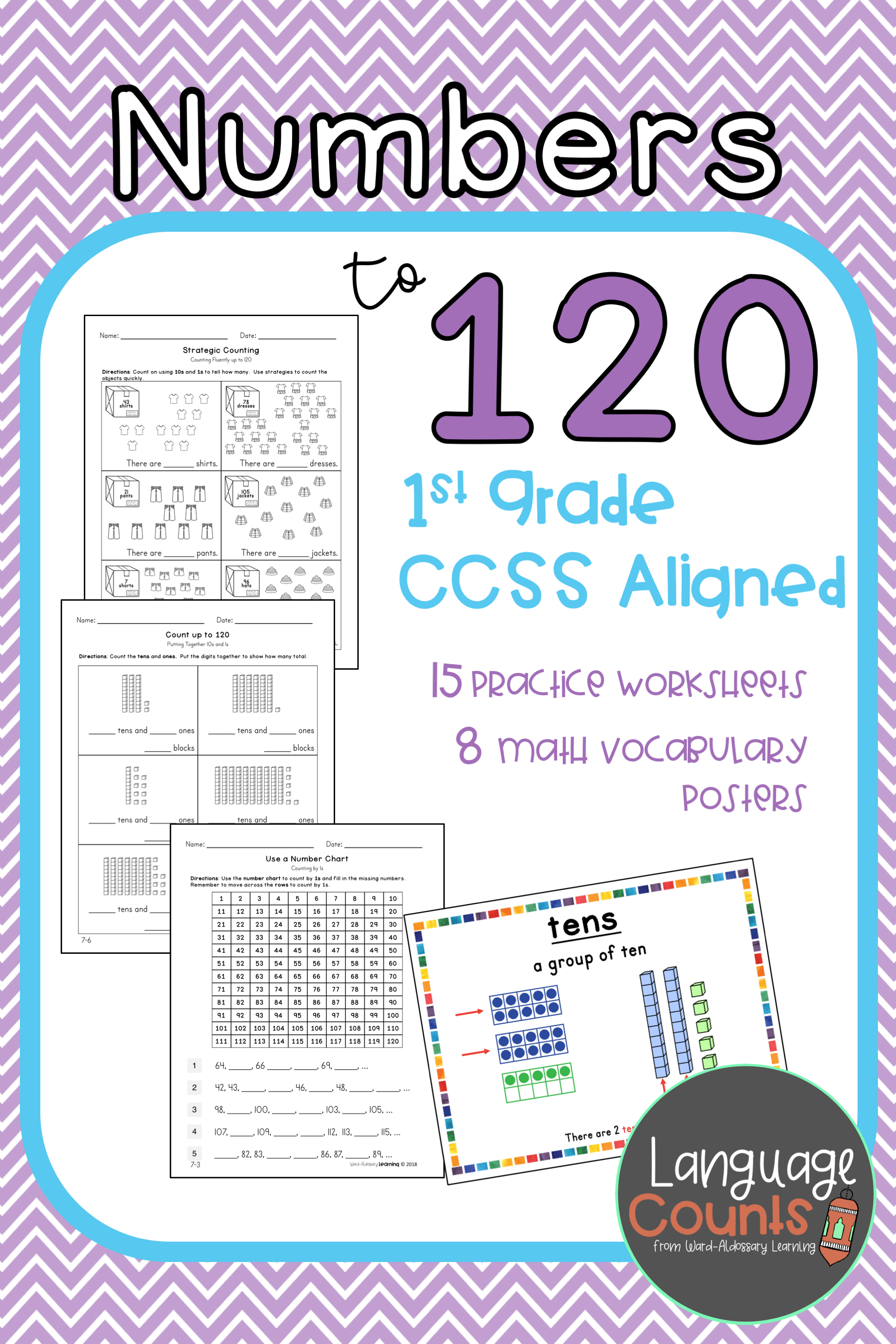 Extend The Counting Sequence To 120 Students Gain Number Sense And Skills In Counting By 1s O Envision Math Kindergarten Envision Math Elementary School Math [ 2900 x 1933 Pixel ]