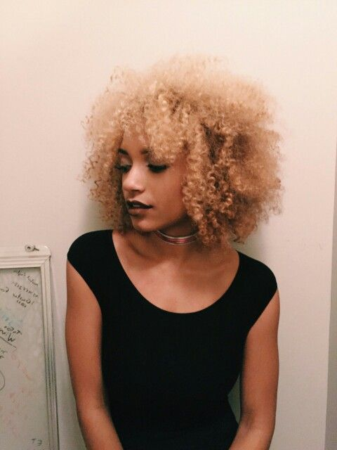 Blonde fro