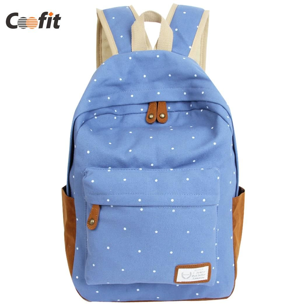 =>>CheapCoofit New 2016 fashion women girls Canvas Backpack Polka Dot School Shoulder Bag Travel RucksacksCoofit New 2016 fashion women girls Canvas Backpack Polka Dot School Shoulder Bag Travel RucksacksSave on...Cleck Hot Deals >>> http://id871465293.cloudns.ditchyourip.com/32612172882.html images