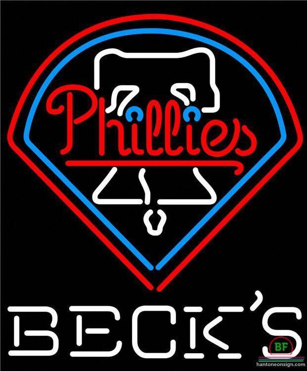 Becks Philadelphia Phillies Neon Sign MLB Teams Neon Light