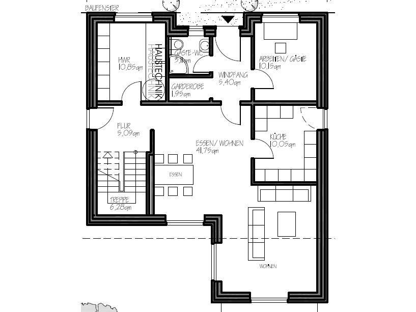 Stadtvilla Grundriss Erdgeschoss Maison