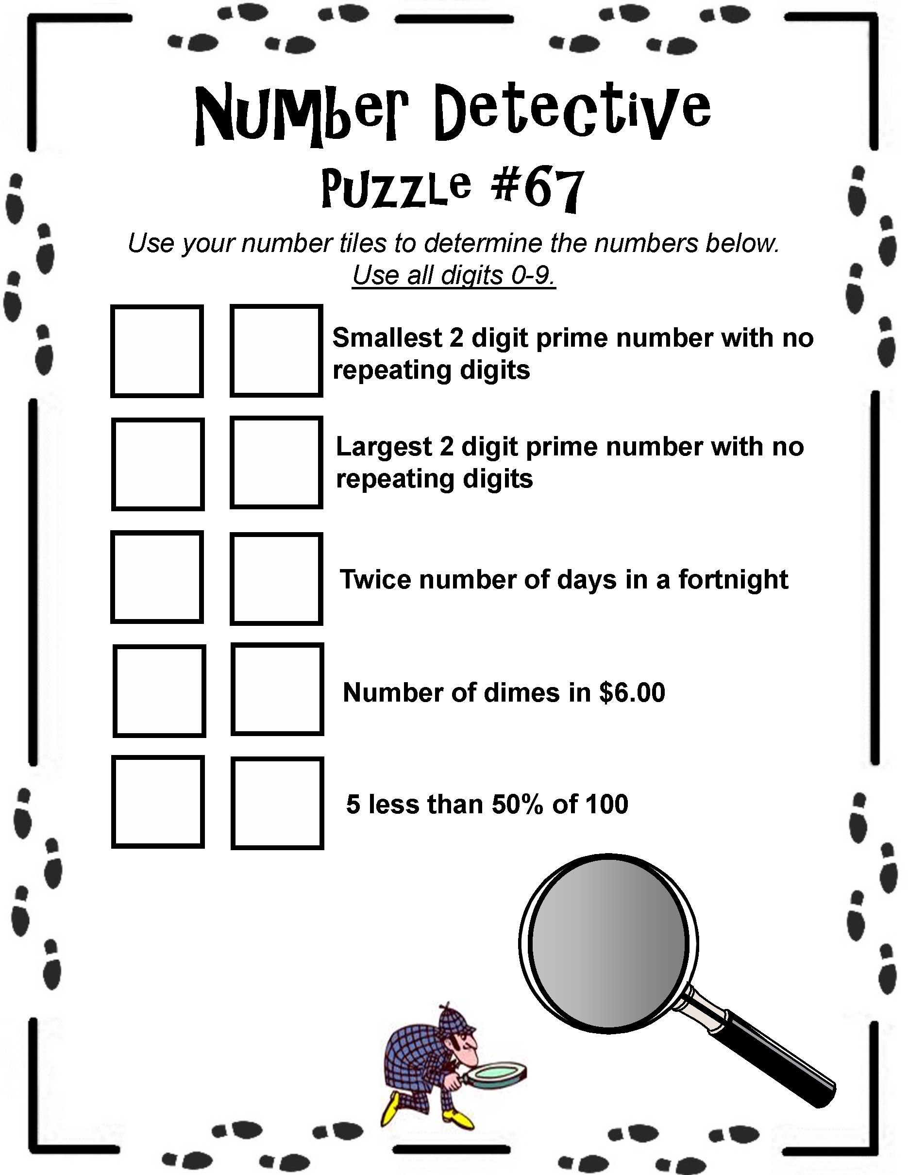 Number Detective Math Tiles