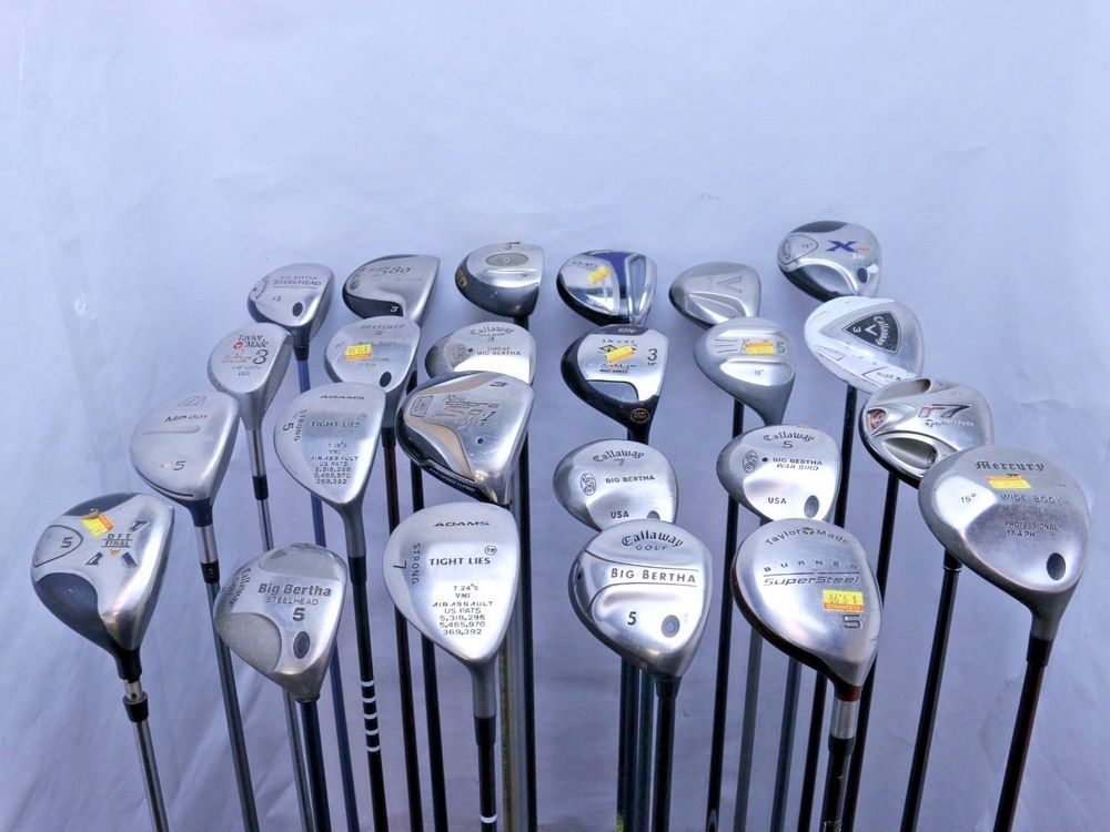 Lot of 24 Golf Club Fairway Woods Callaway Ping Taylormade