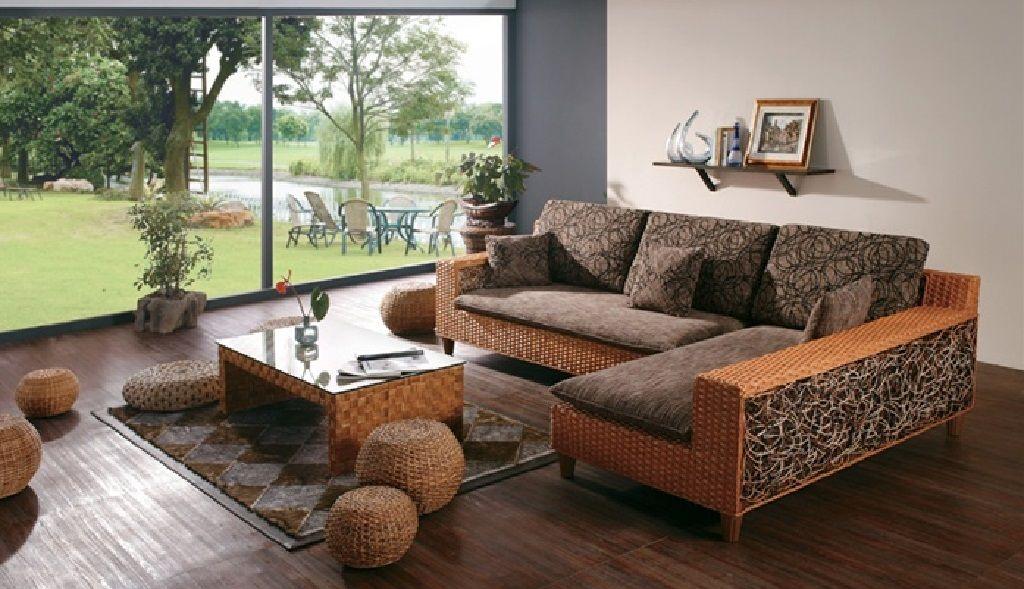 Corner Rattan Sofa L Form Living Room Sofa Rattan Sofa