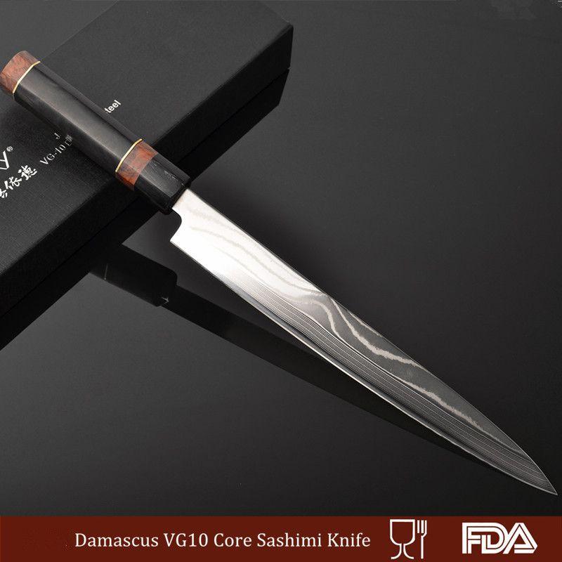 Vg10 Damascus Steel Chef Knife Fish Slicing Handmade Blade Kitchen Sushi Sashimi Cook Filleting Knives Freeship 13 1