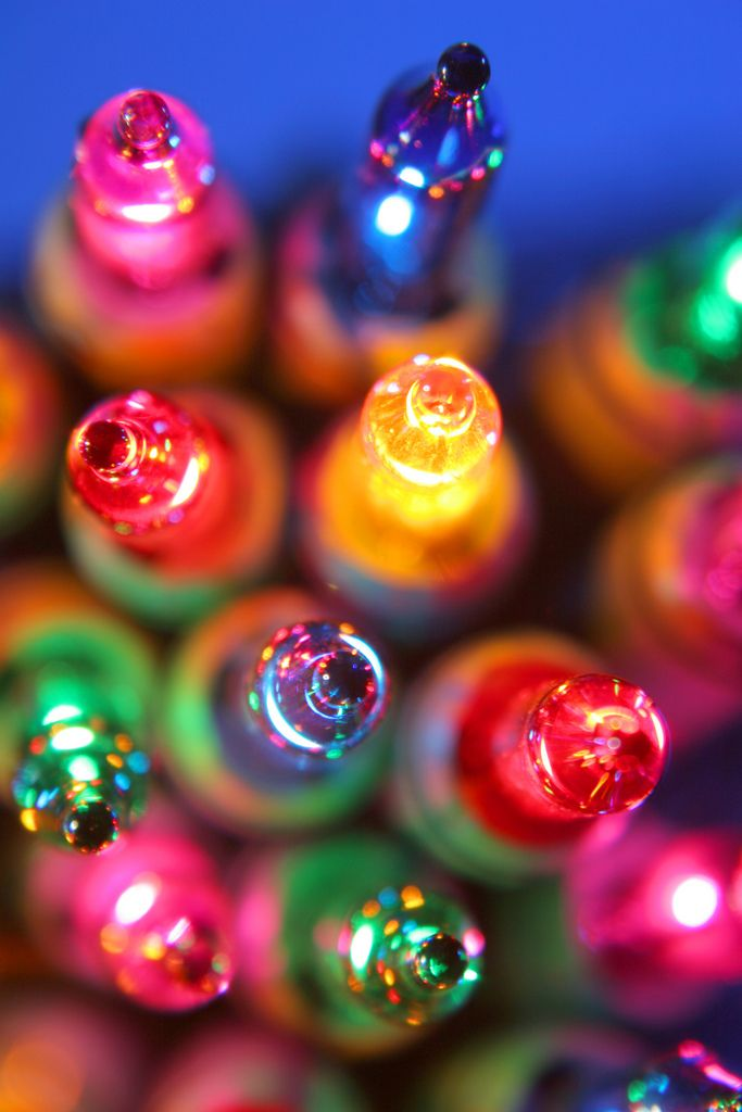 christmas bulbs Lights, Christmas lights and Rainbows