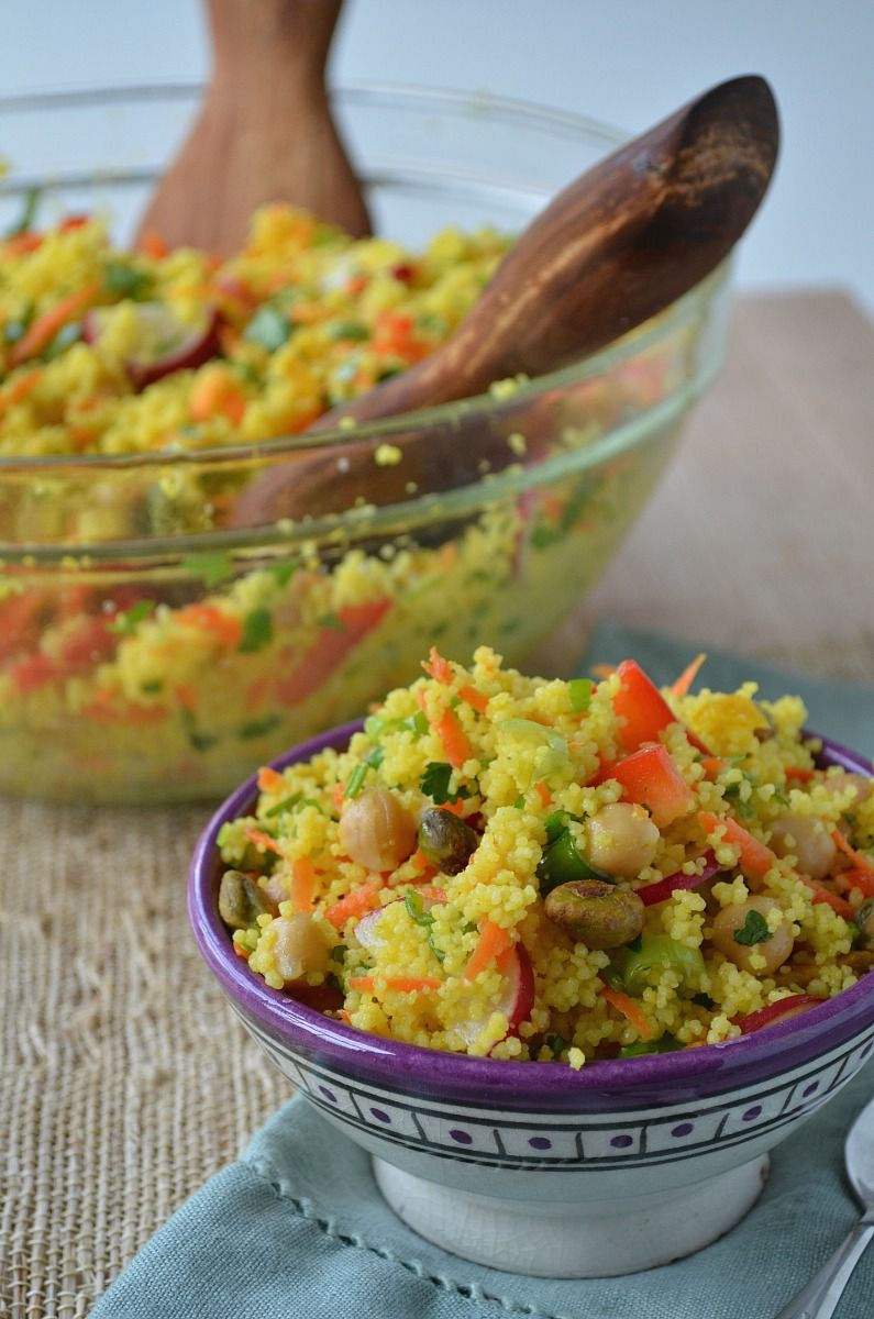 Moroccan-Inspired Couscous-Chickpea Salad