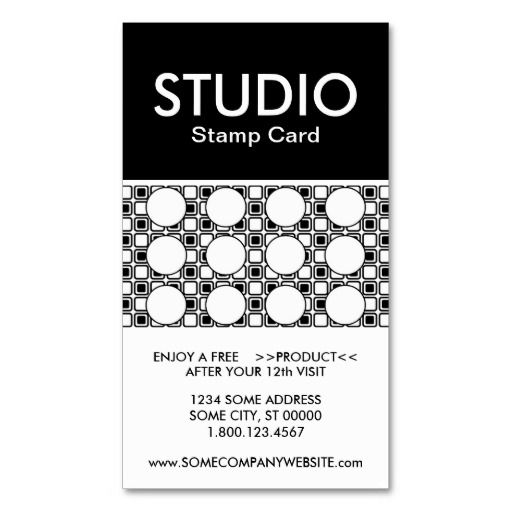 Studio Stripe Stamp Card Zazzle Com Stamped Cards Punch Cards Cards For Friends