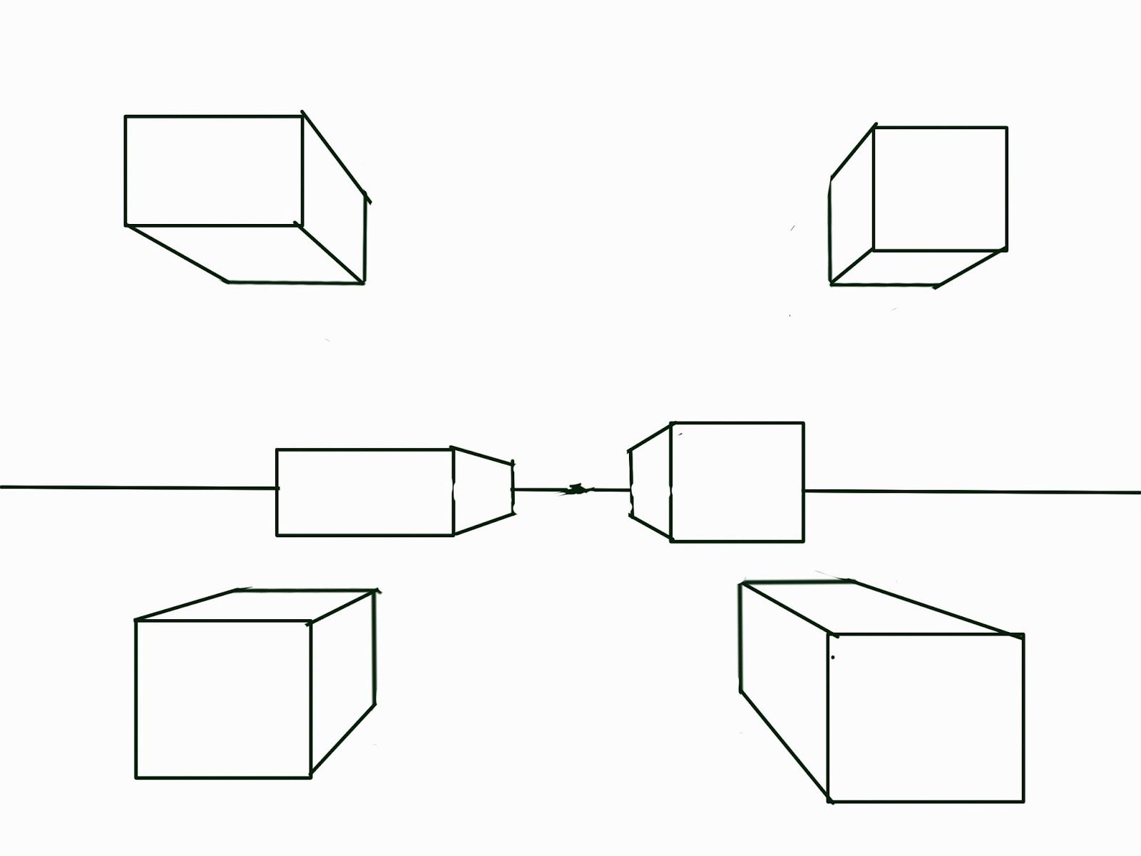 worksheet Perspective Worksheets the helpful art teacher fun with one point perspective boxes and and