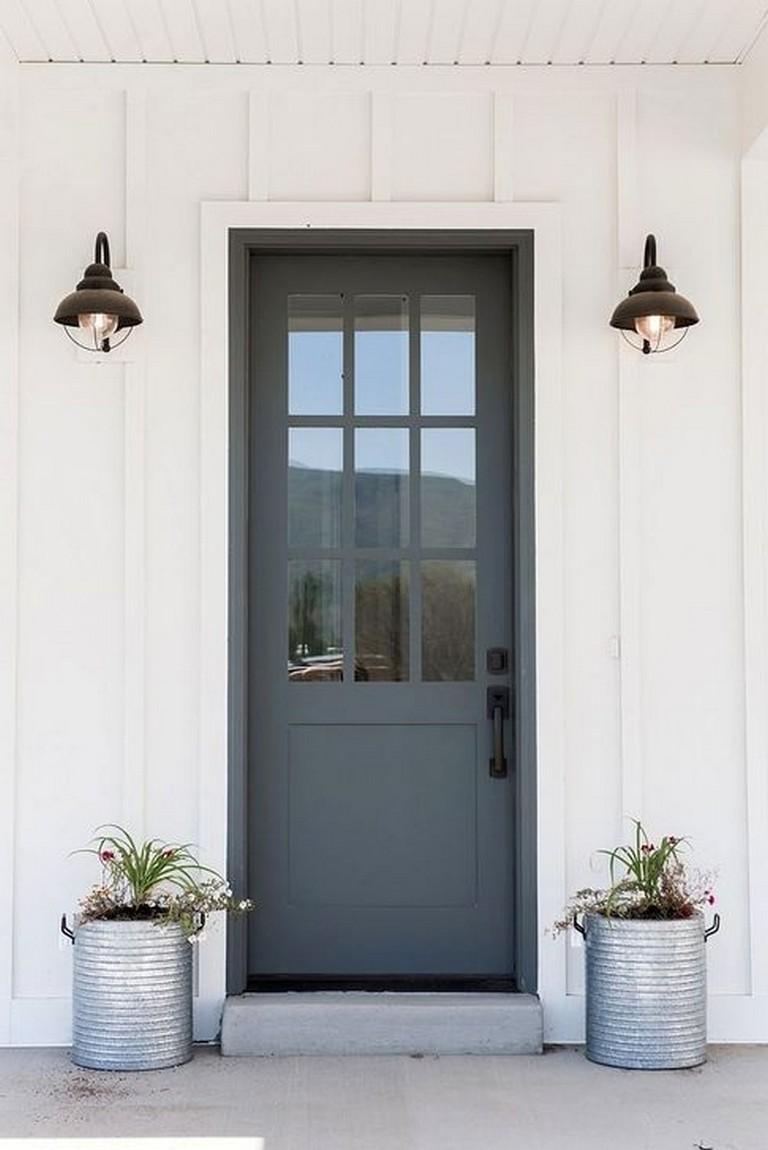 47 Amazing Painted Exterior Door Design Ideas Painted Exterior Doors Painted Front Doors Front Door Paint Colors