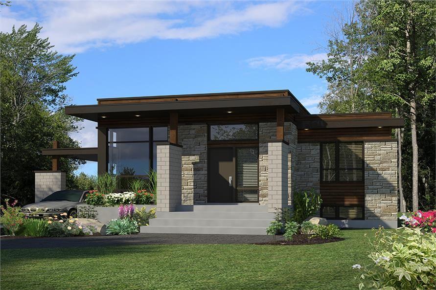 Modern Feng Shui House Plan 3 Bedrms 1 Bath 1180 Sqft 158 1298 Modern House Plans Modern House Plan Small Modern Home