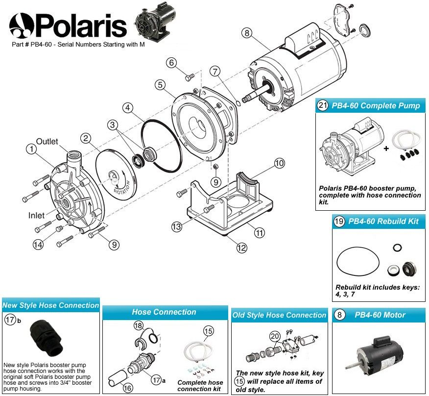 Polaris Pb4 60 Booster Pump Parts Polaris Pool Cleaner Pool Cleaning Polaris Pool
