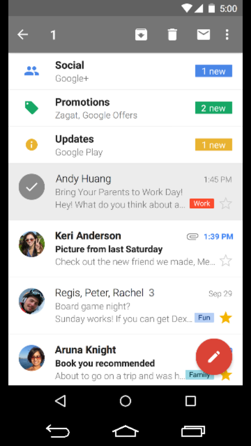 mobile messaging inbox features mobile ui - Google Search
