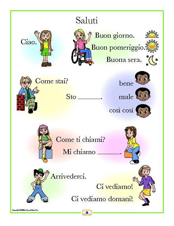 Italian greetings poster pinterest greetings posters italian italian sign language love italian greetings poster italian french and spanish language m4hsunfo