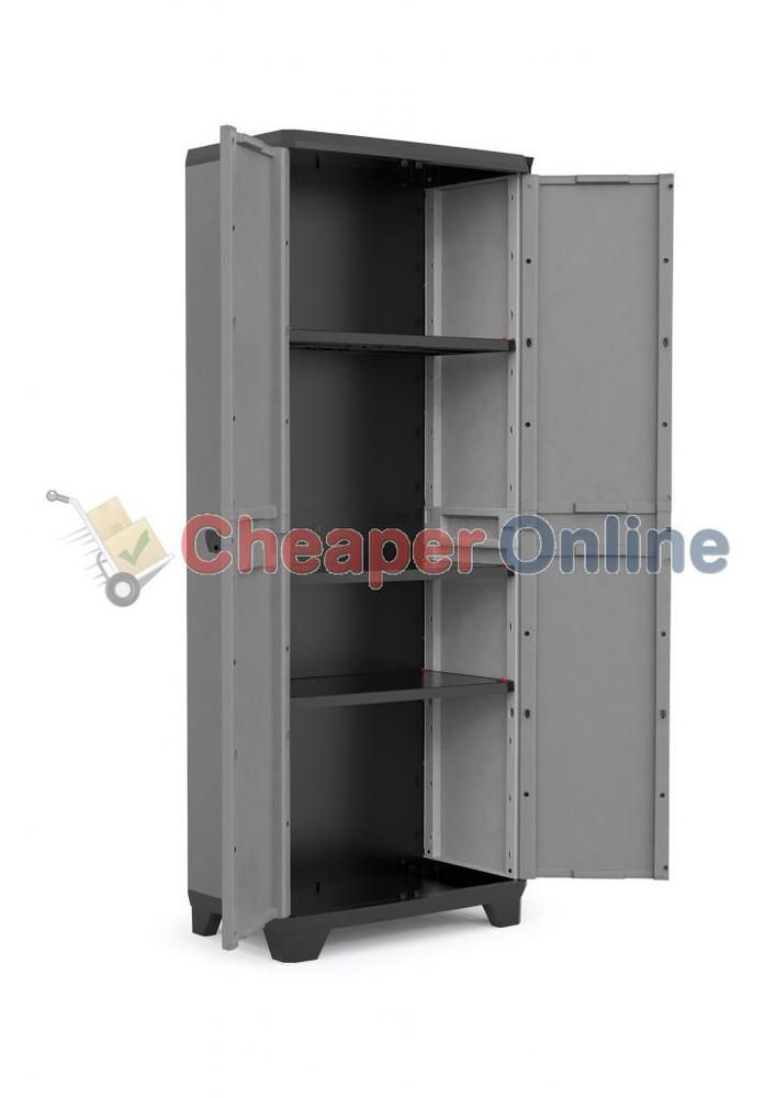 173cm tall indoor outdoor plastic garden storage cabinet shed with rh pinterest com