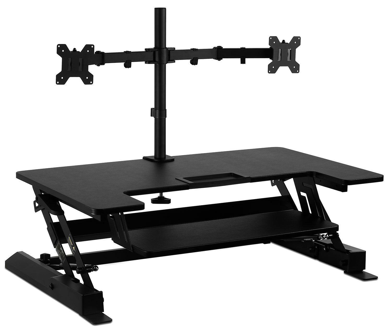 Amazon Com Mount It Standing Desk Sit Stand Desk Converter For