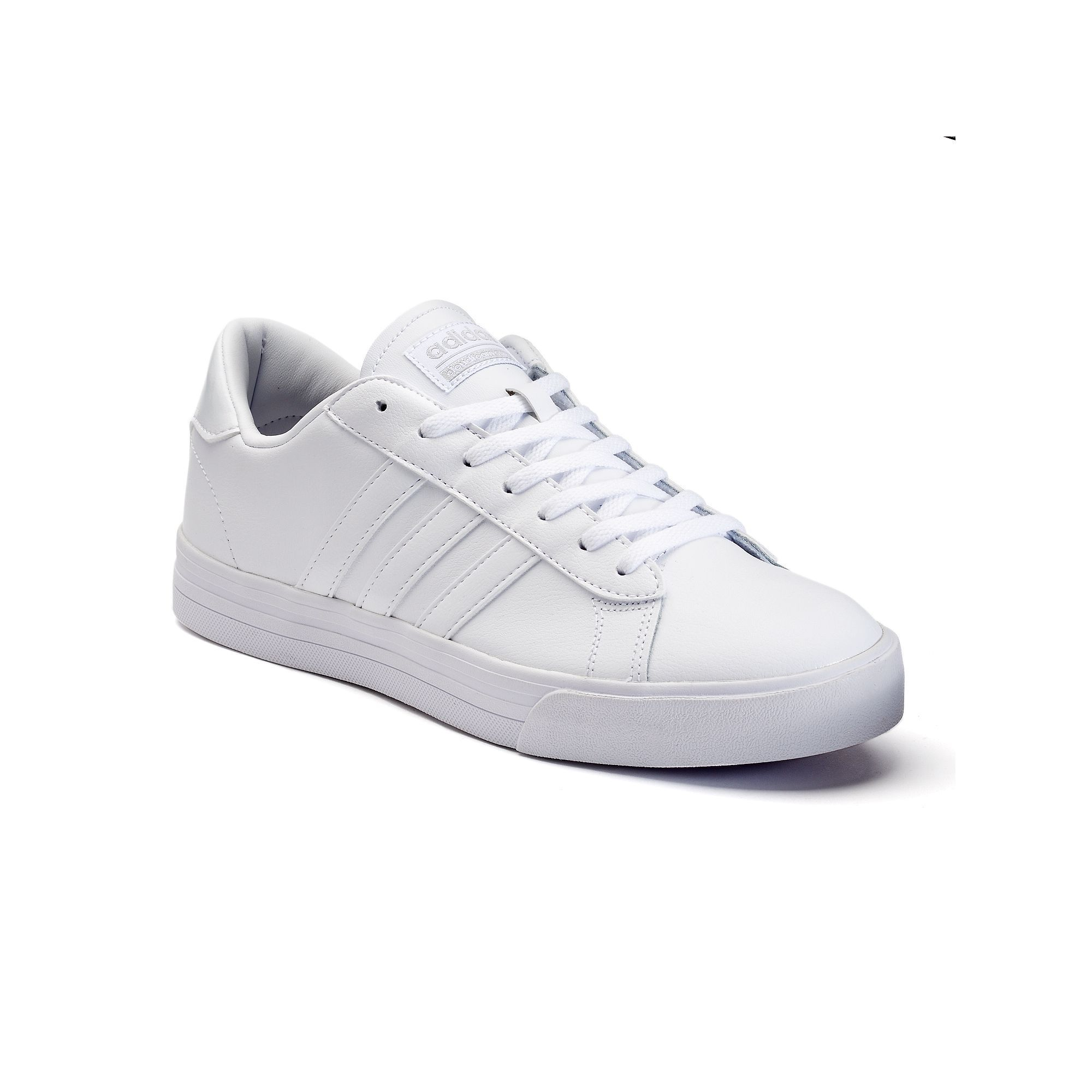 Adidas NEO Cloudfoam Super Daily Men\u0027s Leather Shoes, Size: 10.5, White