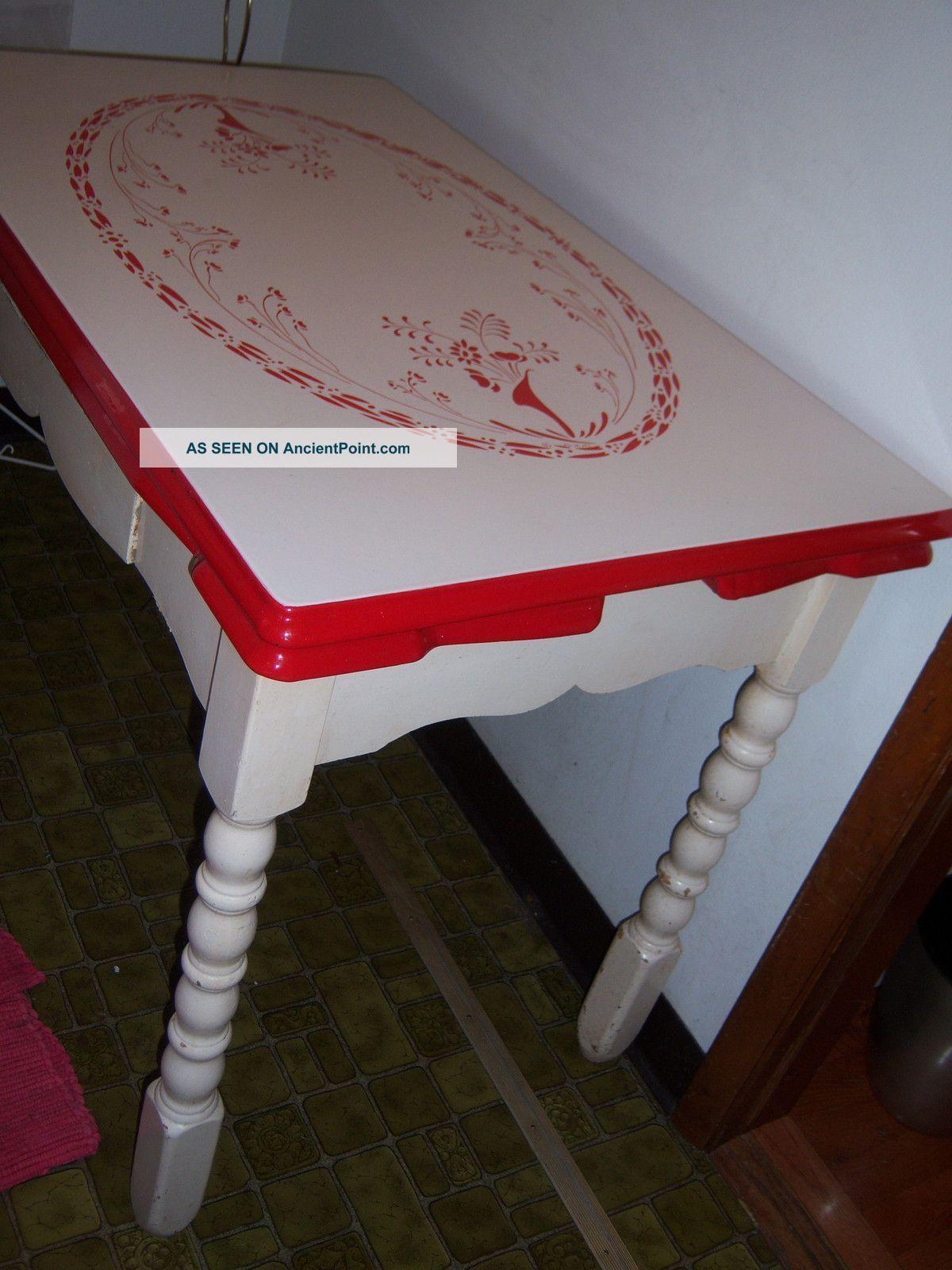 Ugo Mochi Porcelain Top Table   Vintage kitchen table, Shabby chic ...