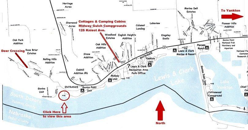 Midway Gulch Campground Lewis and Clark Lake Yankton South Dakota