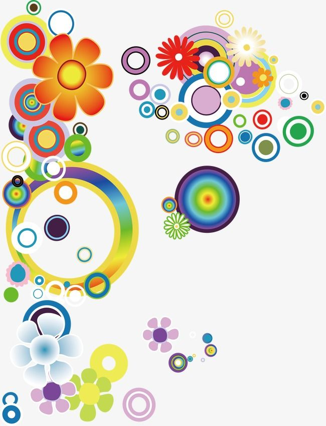 إطارات هندسية ملونة مع تكوين دائرة التوضيح خلفية دائرة نبذة مختصرة Png والمتجهات للتحميل مجانا Geometric Color Frame