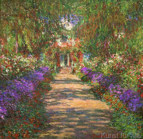Claude Monet A Pathway In Monet S Garden Giverny 1902 Art Print Claude Monet Artist Monet Claude Monet Paintings