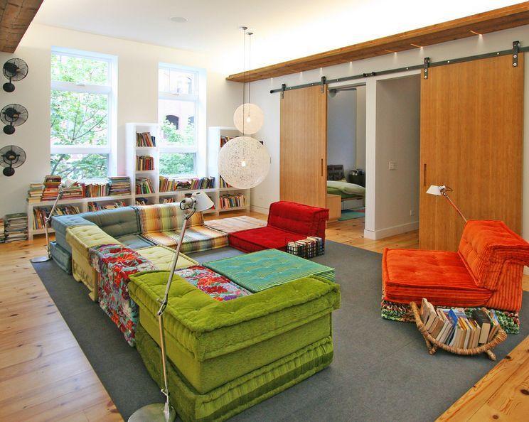Mah Jong Modular Floor Sofa Home Living Room Divider Room Design