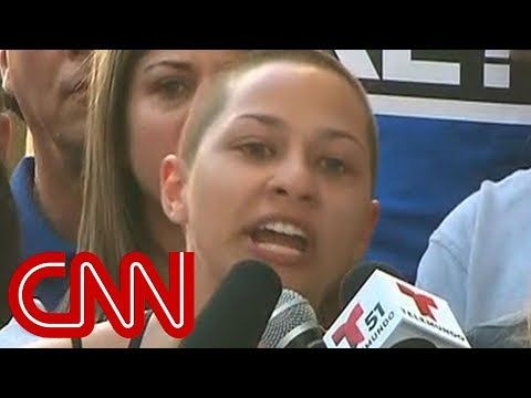 """Emma Gonzalez at an anti-gun rally after the FL massacre. """"If you actively do nothing, people end up dead. So, it's time to start doing something!"""""""