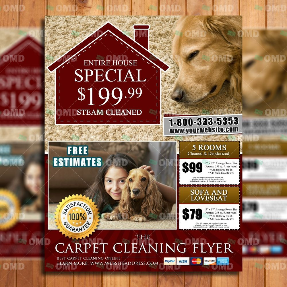 professional upholstery cleaning flyer template