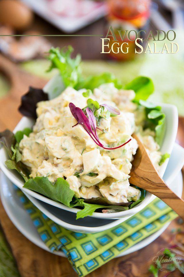 Avocado Egg Salad Recipe Salad Egg Salad Recipe Easy Healthy Foodie