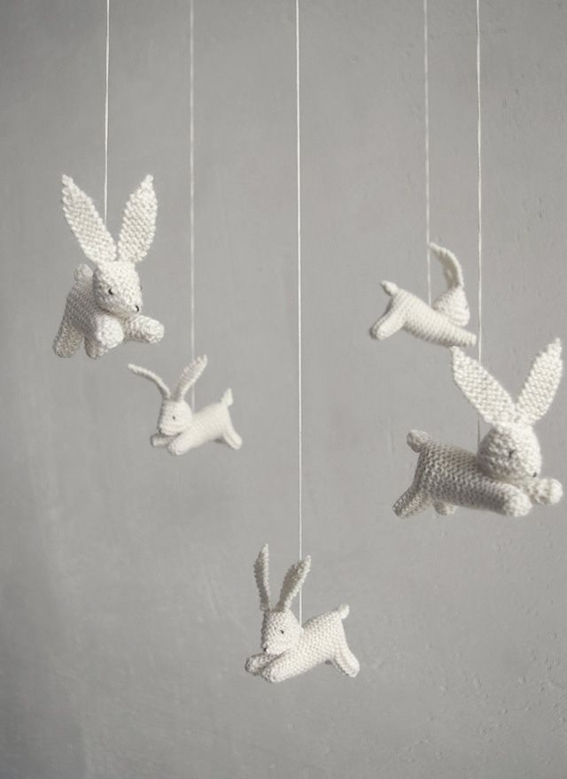 Lovely Handmade Baby Crib Mobiles Bunny Nursery Decor Babies