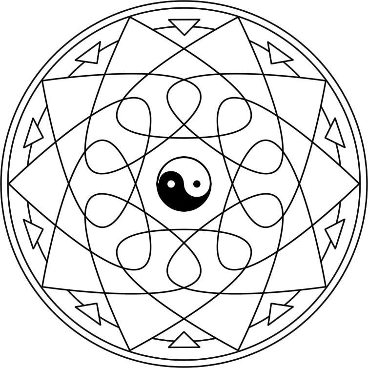 mandala laots mandala para pintar inspirado en el pensador y