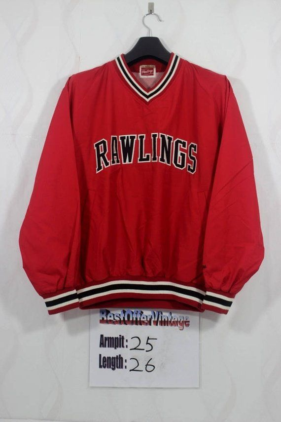 7a927234a003 Vintage 90s Rawling Spellout Windbreaker Jacket Size L   Large Hip hop Rap  Swag Runners Run Vtg Run