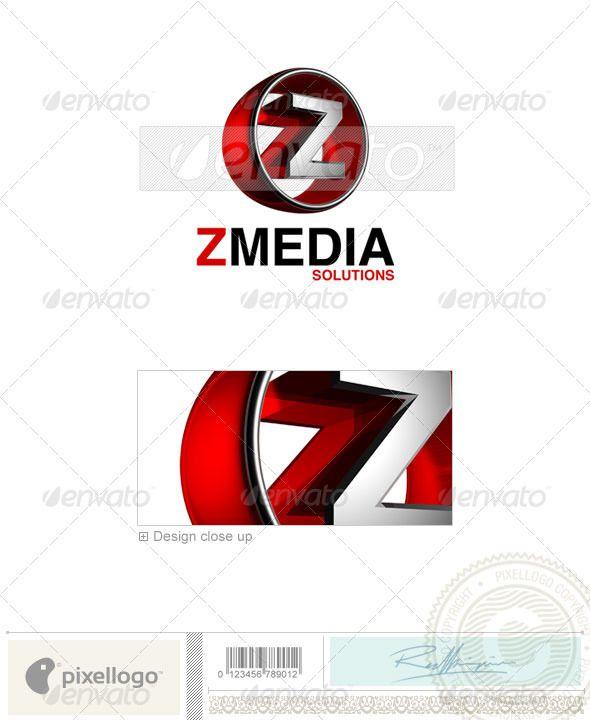 Z Logo - 3D-438-Z | Logo templates, Logos and 3d