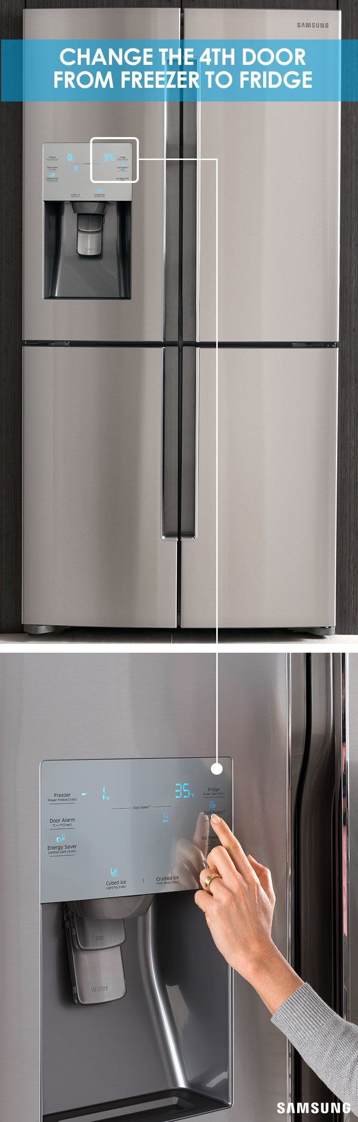 how to reset samsung refrigerator temperature