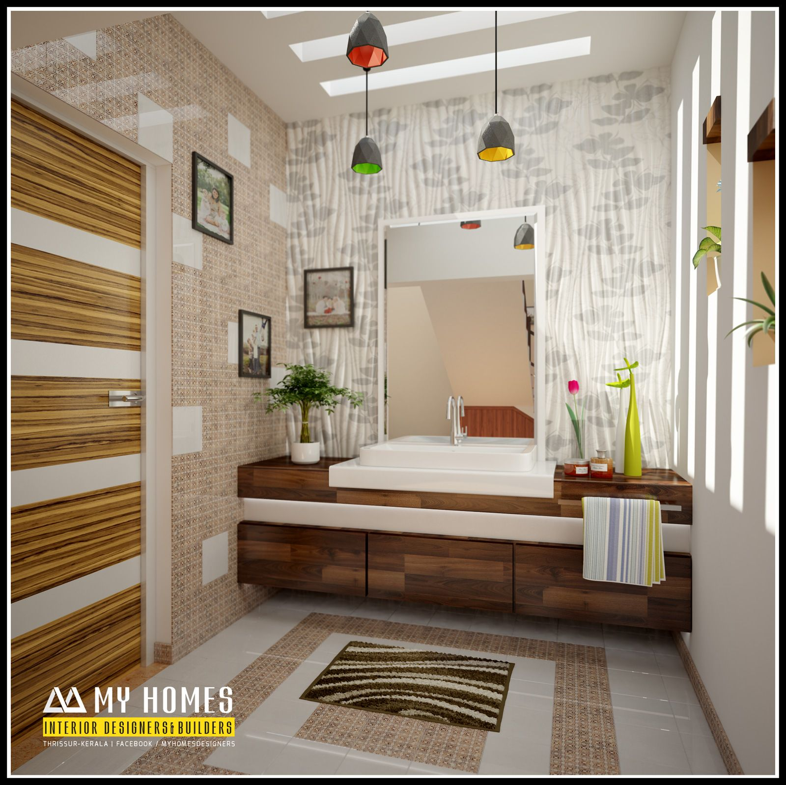Home Internal Design: Kerala House Wash Basin Interior Designs Photos And Ideas