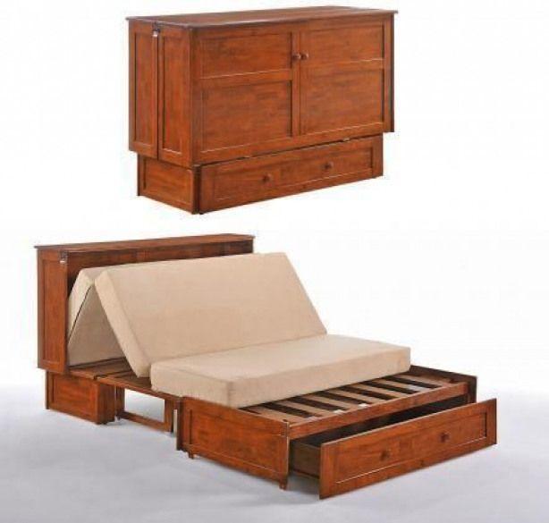 Photo of Ein Schrank, der sich in ein Queensize-Bett verwandelt