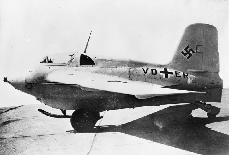 "Messerschmitt Me 163B ""Komet"" (VD+ER). This was the 8th prototype aircraft of the Me 163B."