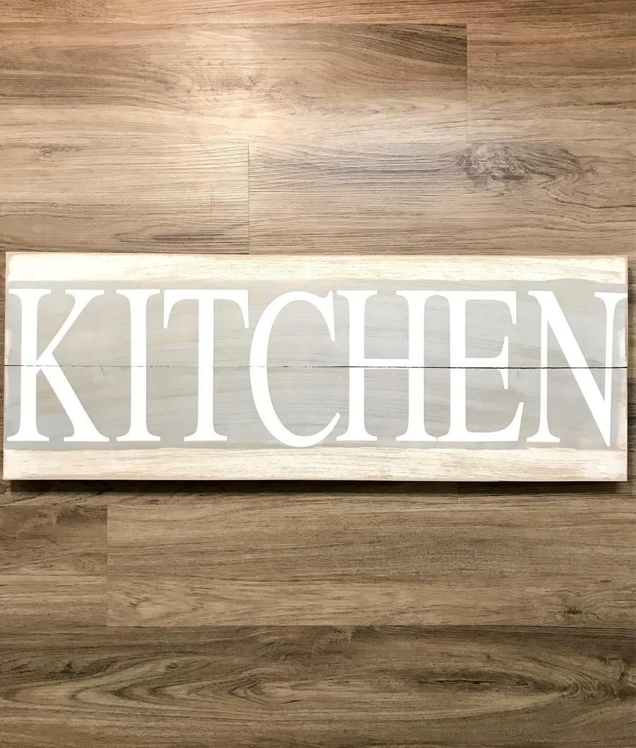 Farmhouse kitchen rustic wooden sign red roan signs