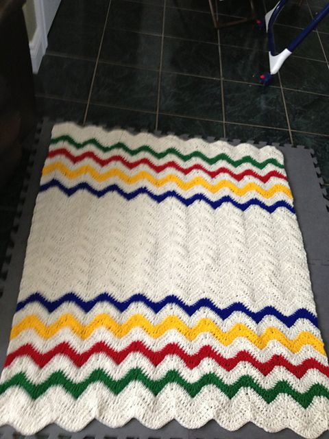 Ripple Afghan Pattern By Michael Sellick Crochet Crowd