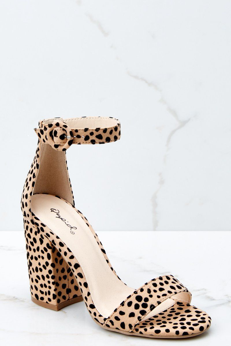 0a5b8bcd6aee Playful Beige Cheetah Print Heels - Ankle Strap Heels - Shoes -  32.00 –  Red Dress Boutique