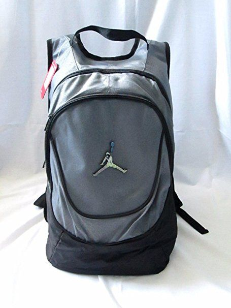 Nike Air Jordan 23 Jumpman Backpack School Bag Laptop Grey Black ... af7d584bcb4ee