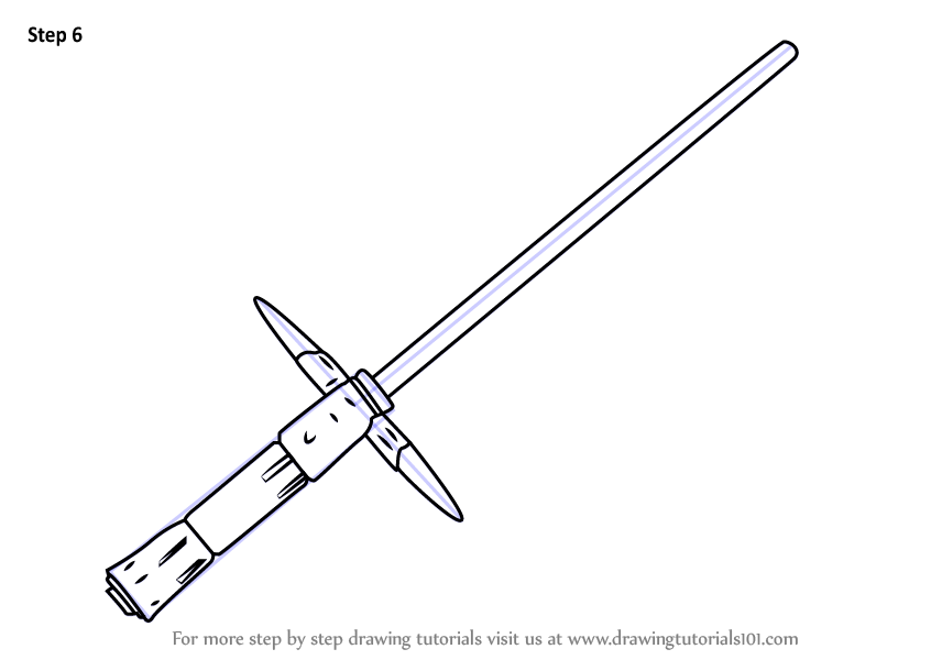 How To Draw Kylo Ren S Lightsaber From Star Wars Step 6 Png 846 600 Lightsaber Drawing Star Wars Drawings Lightsaber Tattoo